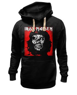 "Толстовка Wearcraft Premium унисекс ""Iron Maiden Band"" - music, rock, heavy metal, che, рок музыка, iron maiden, хэви метал, eddie, nwobhm"