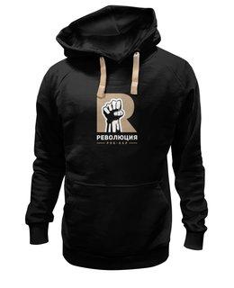 "Толстовка Wearcraft Premium унисекс ""Revolution hoodie black"" - revolution"