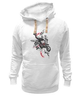 "Толстовка Wearcraft Premium унисекс ""байкер"" - мотоцикл, байкер, motorcycle, biker"
