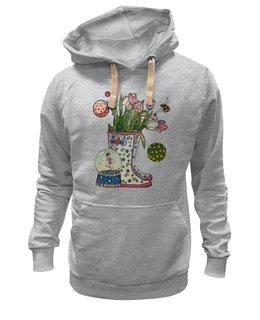 """Толстовка Wearcraft Premium унисекс """"капелька"""" - цветы, осень, flowers, дождь, autumn, rain, капелька, rain boots"""