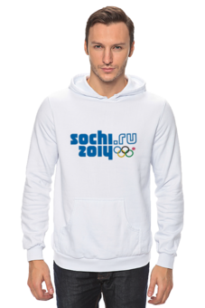 "Толстовка ""SOCHI 2014 толстовка"" - мужская, москва, кольцо, белая, 2014, толстовка, сочи, символ, sochi, olympics"