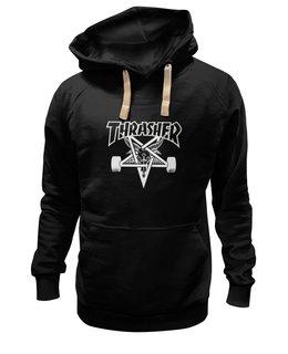 "Толстовка Wearcraft Premium унисекс ""Trasher"" - пентаграмма, trasher, pentagramm"