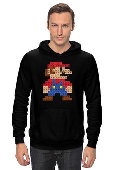 """Толстовка """"Таблица Супер Марио"""" - игры, nintendo, химия, 8 бит, super mario, супер марио, таблица менделеева"""