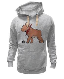 """Толстовка Wearcraft Premium унисекс """"Bull_doG"""" - авторская, dog, рисунок, толстовка, оригинально, животное, французский, клык, franche, french bulldog"""