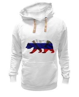 """Толстовка Wearcraft Premium унисекс """"Русский Медведь"""" - bear, медведь, русский, флаг, russian"""