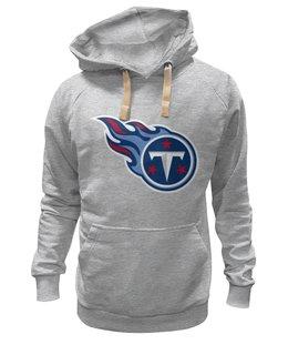 "Толстовка Wearcraft Premium унисекс ""Теннесси Тайтанс"" - огонь, логотип, nfl, американский футбол, american football, нфл, теннесси тайтанс, titans"