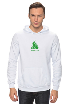 "Толстовка Wearcraft Premium унисекс ""Nirvana-green"" - nirvana, монах, буддизм, yoga, lingam"