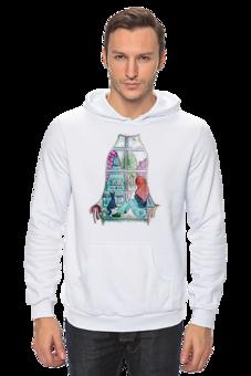"""Толстовка Wearcraft Premium унисекс """"Мечтательница"""" - кошка, арт, девушка, толстовка, мечта, пейзаж, мечтательница"""