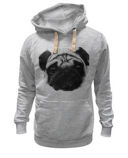 "Толстовка Wearcraft Premium унисекс ""Pug Fan Print"" - dog, pug, в подарок, мопс, pugfan"