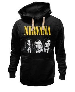 "Толстовка Wearcraft Premium унисекс ""Nirvana "" - nirvana, kurt cobain, курт кобейн, гранж, нирвана"