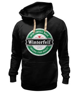 "Толстовка Wearcraft Premium унисекс ""Winterfell"" - пиво, эмблема, beer, игра престолов, старки, game of thrones, stark, winterfell, винтерфелл"