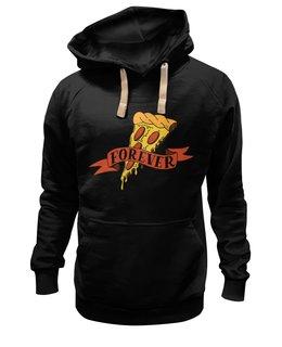 """Толстовка Wearcraft Premium унисекс """"Pizza forever"""" - пицца, любовь, юмор, подарок, ему"""