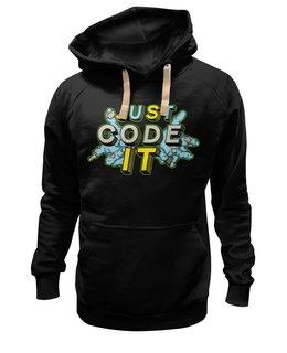 "Толстовка Wearcraft Premium унисекс ""Code IT"" - javascript, программист, developer, js, разработчик"