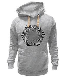 """Толстовка Wearcraft Premium унисекс """"Оптическая иллюзия (лиловый и синий цвета)"""" - узор, орнамент, подарок, абстракция, геометрия"""