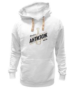 """Толстовка Wearcraft Premium унисекс """"Alcochat hoodie white"""" - alcochat"""
