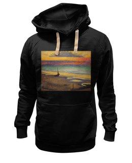 """Толстовка Wearcraft Premium унисекс """"Пляж в Хейсте (Жорж Леммен)"""" - картина, пейзаж, живопись, жорж леммен, неоимпрессионизм"""