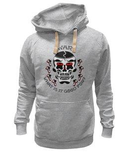 """Толстовка Wearcraft Premium унисекс """"Skull Art"""" - skull, череп, арт, art, страх, ужас, война, крест, war, death"""