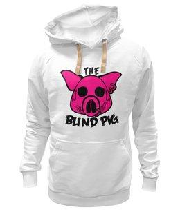 """Толстовка Wearcraft Premium унисекс """"The Blind Pig #2"""" - прикол, супер, рисунок, pink, новое, свинья, blind, слепой, pig"""