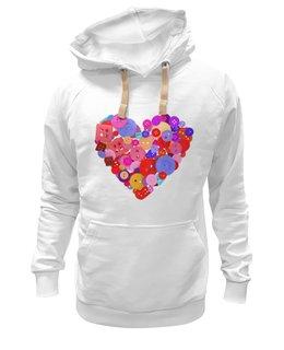 """Толстовка Wearcraft Premium унисекс """"День всех влюбленных"""" - любовь, день святого валентина, валентинка, i love you, день влюбленных"""