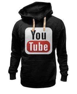"""Толстовка Wearcraft Premium унисекс """"YouTube"""" - logo, знак, youtube, логотип, символ"""