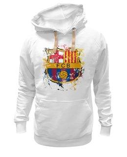 "Толстовка Wearcraft Premium унисекс ""барселона"" - футбол, эмблема, barcelona, барселона"