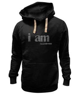 "Толстовка Wearcraft Premium унисекс ""I can be everything"" - надпись, английский, мотивация, i can, be everything"
