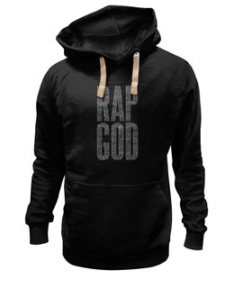 "Толстовка Wearcraft Premium унисекс ""Rap God lyrics"" - rap, eminem"