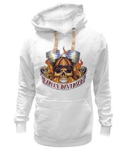 """Толстовка Wearcraft Premium унисекс """"harley davidson"""" - авторские майки, мужская, в подарок, оригинально, футболка мужская, парню"""