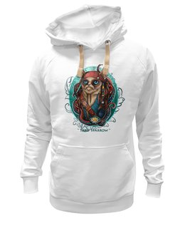 "Толстовка Wearcraft Premium унисекс ""Tard Sparrow "" - кот, арт, стиль, cat, пират, pirate"