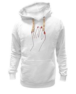 """Толстовка Wearcraft Premium унисекс """"Женская рука"""" - рука, маникюр, ногти, wax, женская рука"""