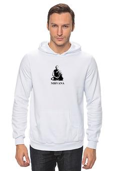 "Толстовка Wearcraft Premium унисекс ""Nirvana-black"" - nirvana, монах, буддизм, yoga, lingam"