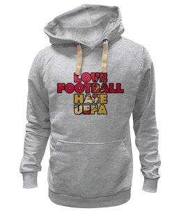 "Толстовка Wearcraft Premium унисекс ""Фанаты"" - футбол, фанаты, я люблю футбол, i love football"