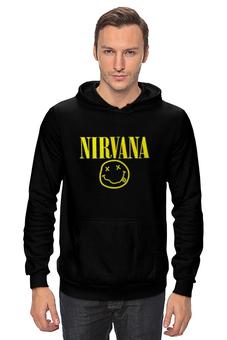 "Толстовка Wearcraft Premium унисекс ""нирвана"" - музыка, гранж, nirvana, kurt cobain, курт, нирвана, кобейн"