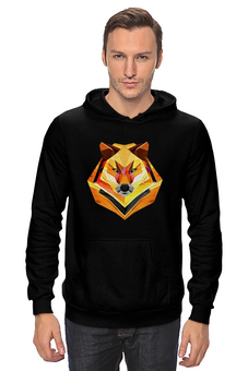"Толстовка Wearcraft Premium унисекс ""одинокий волк"" - мода, волк, минимализм, wolf, lonely, балахон с волком"
