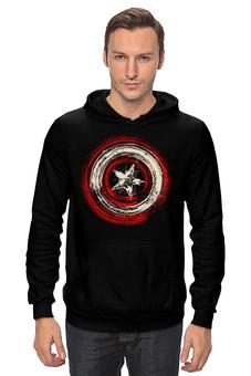 "Толстовка Wearcraft Premium унисекс ""Captain America"" - супергерой, marvel, капитан америка"