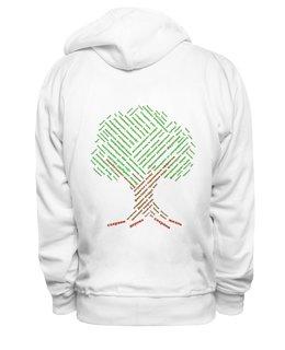 """Толстовка Wearcraft Premium унисекс """"Деревьям нужна наша помощь! """" - любовь, деревья, россия, природа, слова"""