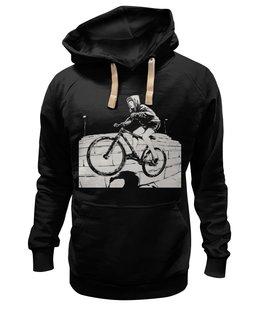"Толстовка Wearcraft Premium унисекс ""девушка на велосипеде"" - спорт, bmx, велосипед, street, bike, стрит, велоспорт, дерт, фрирайд, freeride"