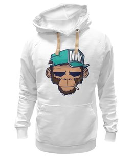 "Толстовка Wearcraft Premium унисекс ""MNK Design. Original Design "" - обезьяна, monkey, smoking, сигарета"