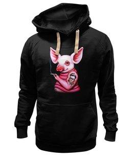 """Толстовка Wearcraft Premium унисекс """"Неформальная свинка"""" - свинка, свинья, хрюшка, поросёнок, хряк"""