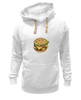 "Толстовка Wearcraft Premium унисекс ""Гамбургер"" - гамбургер, сэндвич, fast food"