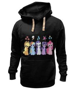 "Толстовка Wearcraft Premium унисекс ""My Little Pony Characters"" - rainbow dash, my little pony, applejack, friendship is magic, fluttershy"
