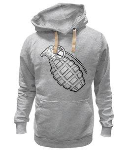 "Толстовка Wearcraft Premium унисекс ""Grenade"" - рисунок, grenade, граната, новое, лимонка, hand grenade, boom"