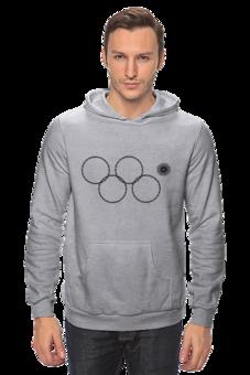 """Толстовка """"Олимпийские кольца в Сочи 2014"""" - олимпиада, нераскрывшееся олимпийское кольцо, олипийские кольца, сочи-2014, sochi-2014"""