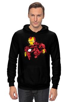 """Толстовка Wearcraft Premium унисекс """"Железный человек"""" - комиксы, супергерой, marvel, марвел, железный человек, iron man"""