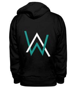 """Толстовка Wearcraft Premium унисекс """"Логотип Алана Уолкера"""" - музыка, алан уолкер, логотип"""