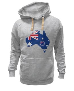 "Толстовка Wearcraft Premium унисекс ""С флагом Австралии"" - австралия, флаг австралии, australia, aussie"