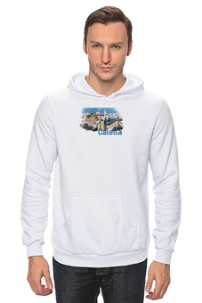 "Толстовка Wearcraft Premium унисекс ""Calella"" - рисунок, город, иллюстрация, скетч, испания"