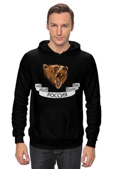 """Толстовка Wearcraft Premium унисекс """"Русский медведь"""" - bear, медведь, россия, русь"""