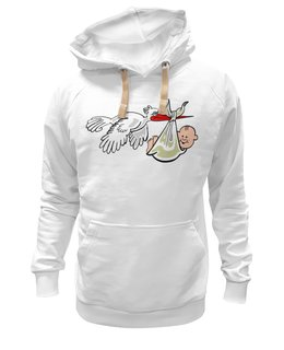 "Толстовка Wearcraft Premium унисекс ""Gift Stork"" - прикол, супер, арт, красиво, классно, семья, baby, подарок, family, ребёнок"