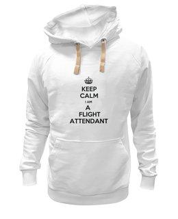 """Толстовка Wearcraft Premium унисекс """"Толстовка """"KEEP CALM"""""""" - толстовка, стюардесса, flight attendant, ботрпроводник, печать на футболках"""